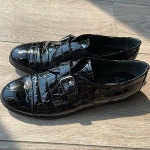 AMALFI By Rangoni Patent Croc Leather Flats